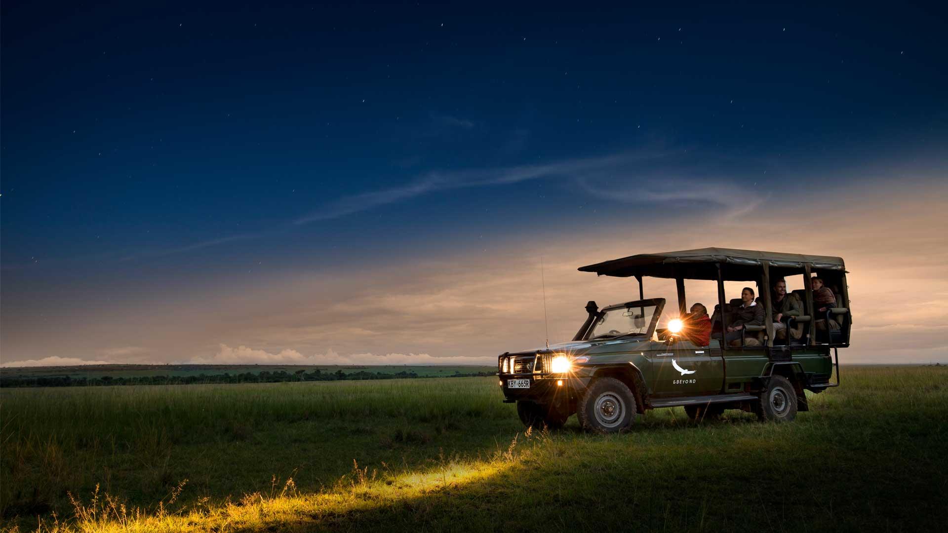 Lake Manyara Night Game Drive   Experiences   andBeyond