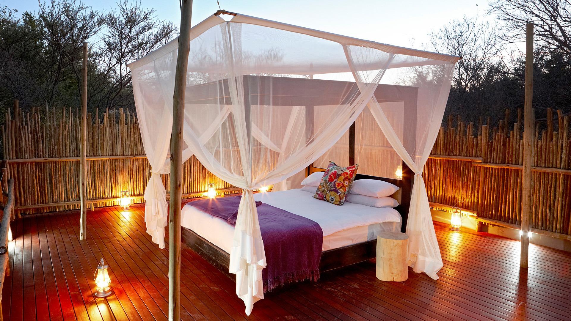 Image result for image jacqui lodge madikwe sleep under the stars bed
